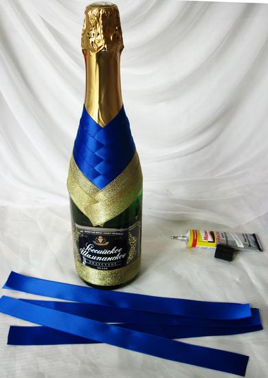 Украшения для бутылок шампанского своими руками на