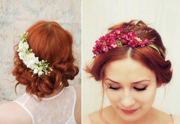 Цветы для свадебной прически невесты